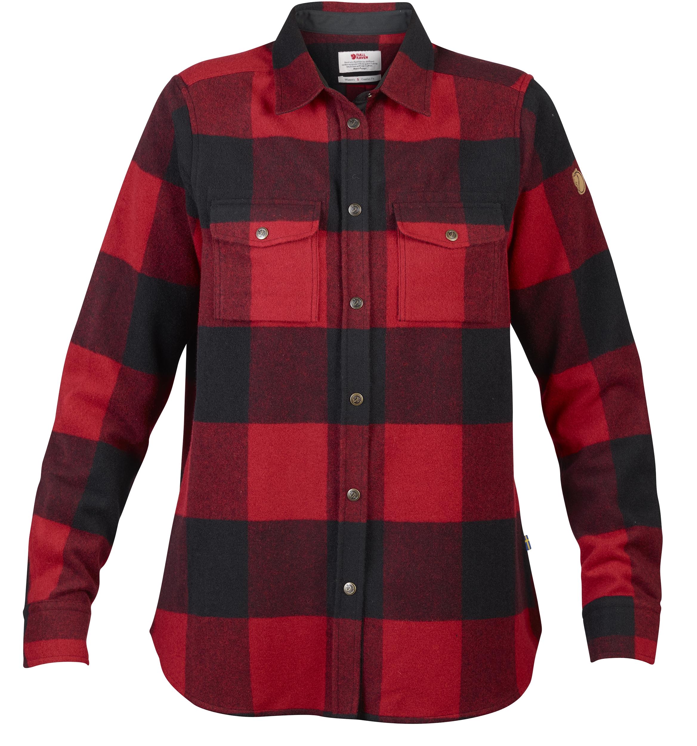 bd00c8459cf Fjällraven Canada Skjorte Lady Rød